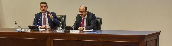 Gıda tarım ve Hayvancılık Bakanı Faruk Çelik, YÖK Başkanı Prof. Dr. M. A. Yekta Saraç